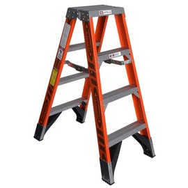 Werner - T7404 375-Pound Duty Rating Fiberglass Multi-Use Twin Ladder, 4-Foot