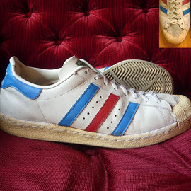 adidas - HALF SHELL(0693 12) WHITE/BLUE/RED FRANCE