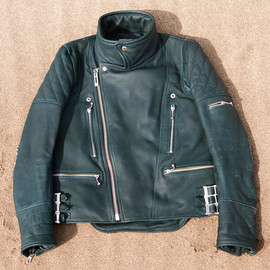 CYDERHOUSE - Deerskin Riders Jacket (navy green)