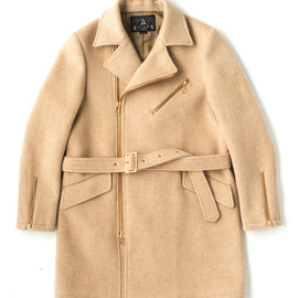 bal - WOOL PLAID MORTER CYCLE CHESTER COAT