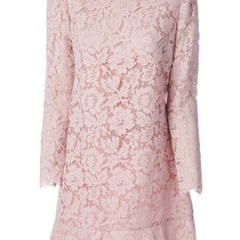 VALENTINO - cotton blend lace detail dress