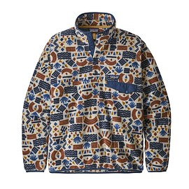patagonia - M's Lightweight Synchilla® Snap-T® Pullover, Protected Peaks Multi Big: Oatmeal Heather (PBOH)