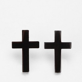 Urban Outfitters - Metal Cross Post Earring