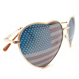 Love Heart Frame American Spirit Lenses Sunglasses Shades