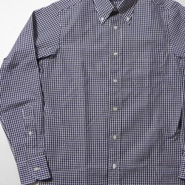 "INDIVIDUALIZED SHIRTS - INDIVIDUALIZED SHIRTS(インディビジュアライズドシャツ) STANDARD FIT L/S B.D. SHIRTS ""GINGHAM CHECK"" IND-113NBC"