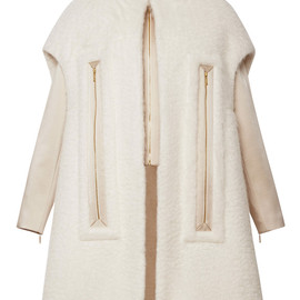 DELPOZO - Mohair Coat With Chimney Neckline