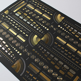 Cosmotech - dots & lines poster - BLACK