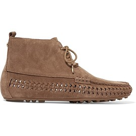 MICHAEL Michael Kors - Westley whipstitched suede moccasin ankle boots