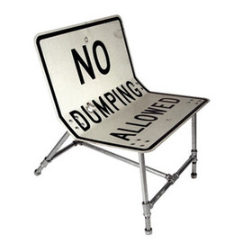 Tim Delger - No Dumping Allowed Chair