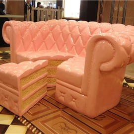strawberry cake sofa