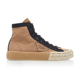 PRADA - Resort 2020 Colorblocked Gabardine High Top Sneakers