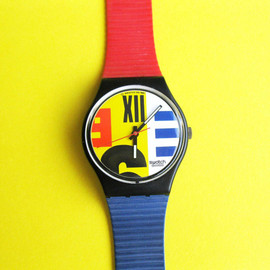 Swatch - Vintage Swatch watch 1987 Nine to Six GB117