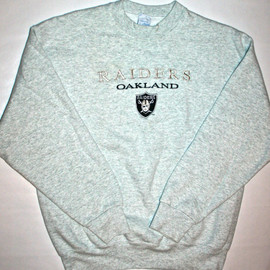 VINTAGE - Vintage Raiders Mens Sweatshirt Size Large Made in USA