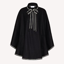 Red Valentino - Wool cape with contrasts