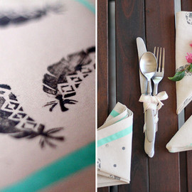 Green Wedding Shoes - diy-stamped-napkin-final