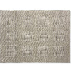 Sandy Chilewich - Pocketweave Squares Placemat, Pewter