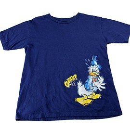 Disney - Disney Donald Duck Quack! T-Shirt Navy Organic Cotton Mens Size Medium