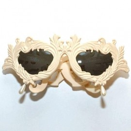 JEREMY SCOTT - Jeremy Scott x Linda Farrow Flourish Ornaments Sunglasses Creme