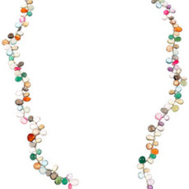 ROSANTICA - Pacifico 24-karat gold-dipped multi-stone necklace