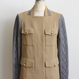 3.1 Phillip Lim  - millitary jacket w/cabel knit sleeves