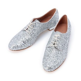 Fabio Rusconi - SILVER GLITTER SHOES
