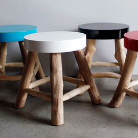 &K amsterdam - WOOD STOOL / ウッドスツール
