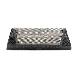 SAINT LAURENT - FW2015 Embossed leather and chain clutch