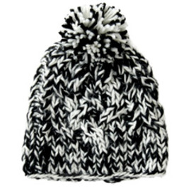 karen walker - Pom Pom Hat (black & cream)