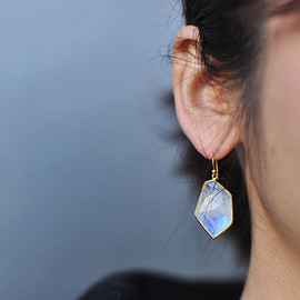 Tej Kothari - Geometric Shape Stone Earrings