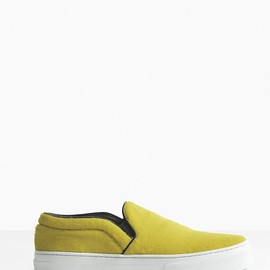 Celine - 10 mm Skate Slip-on in Yellow Pony Calfskin
