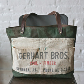 FORESTBOUND - WWII era Camo & Work Apron Tote Bag