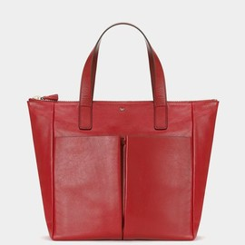 ANYA HINDMARCH - Nevis Zipped Small Red