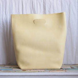 Hender Scheme - not eco bag big #lemon yellow