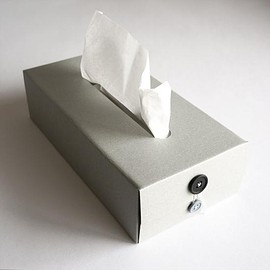 concrete craft - BUTTON TISSUE BOX(Grey)