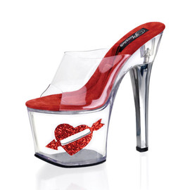 "Pleaser - ""Tip jar"" Platform With Heart Arrow"