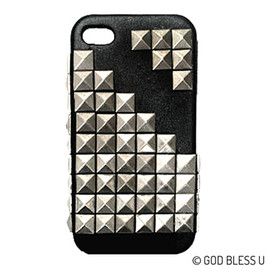 GOD BLESS U - GOD BLESS U iPhone4S TETRIS STUDS COVER LEATHER CASE - iPhone Cases - GOD BLESS U | HANDMADE STUDS CASTOM