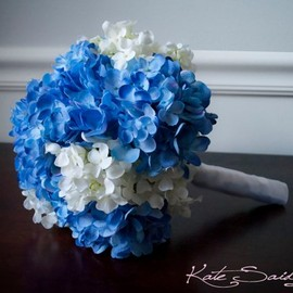 Wedding Bouquet Blue and White