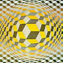 Vasarely - Cheyt M by Victor Vasarely Art Print - WorldGallery.