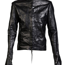 m.a+ - horse leather biker jacket (J213DZW CU 1.0 CLR. BLK)