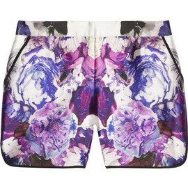 Prabal Gurung - Printed wool and silk-blend shorts