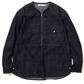 nonnative - TRUCKER L/S SHIRT JACKET COTTON 7.5oz DENIM OW