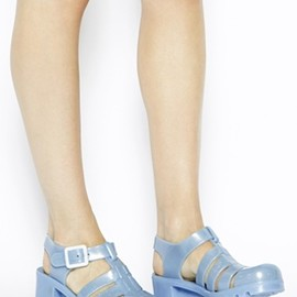 juju - juju Babe Pearl Blue Glitter Exclusive Heeled Sandals