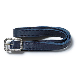 "nonnative - DWELLER NARROW BELT ""WESTERN FLOWER"" - COW LEATHER by END"