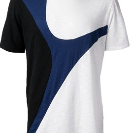 NEIL BARRETT - tri-colour t-shirt