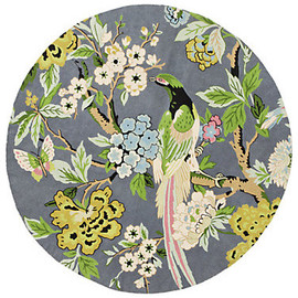 Anthropologie - Conure Rug, Round eclectic rugs