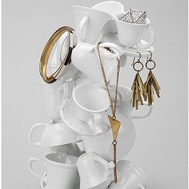 urban outfitters - Stacked Tea Cups Jewelry Stand