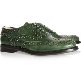 Church's - Burwood Studded Glossed leataher brogues