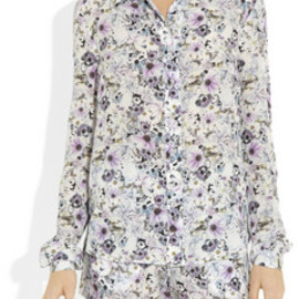 emma cook - Printed silk crepe de chine shirt