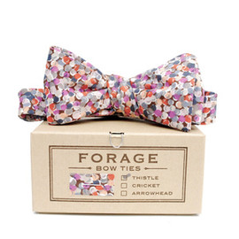 neeed - plum dots bow tie