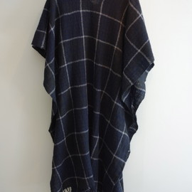 SUN SEA - wool check big stole